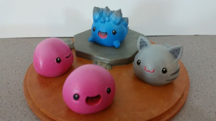 Slime Rancher - Pink Slime, Tabby Slime and Rock Slime by ChaosCoreTech.