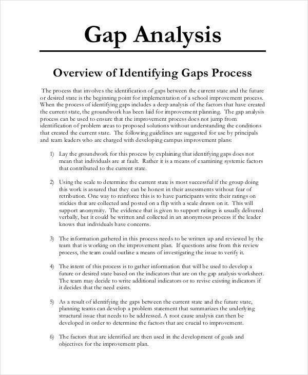 003 Gap Analysis Templates 14+ Free Printable Word, Excel