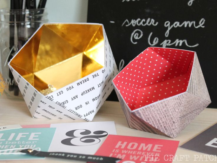 The Craft Patch: DIY Geometric Bowls
