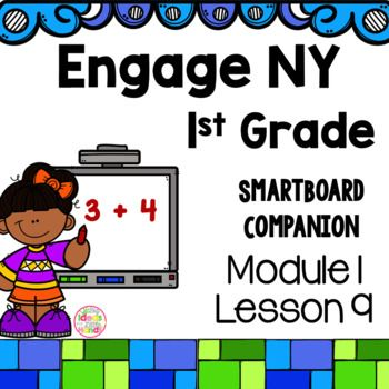 This is a SmartBoard activity that directly correlates with the 1st Grade Engage NY Math Module 1 Lesson 9 (Solve add to with result unknown and put together with result unknown math stories by drawing, writing equations, and making statements of the solution; addition word problems). This lesson includes activities and games for the lesson  Check out the Module 1 bundle here Module 1 Bundle