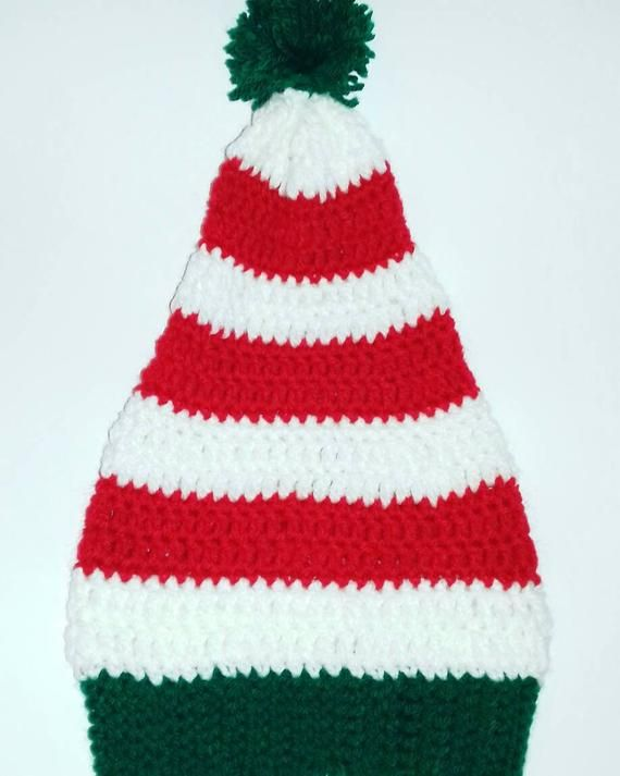 22d80a32609dc Santa hat Christmas Elf hat Beanie for kids Christmas gift Crochet hat  Winter hat Made to order Photo prop hat Christmas elf hat New Year