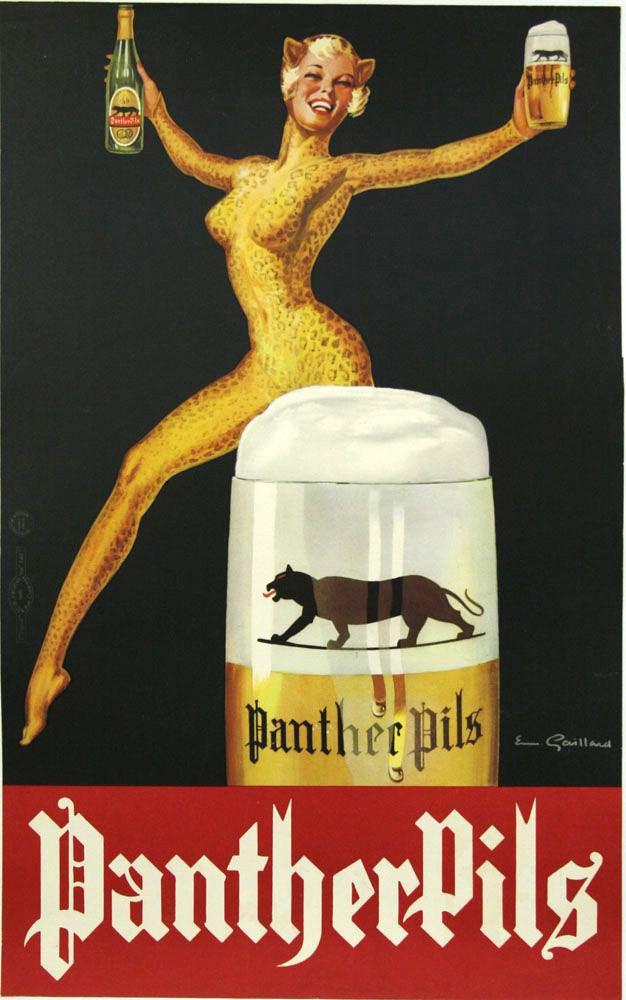 Panther Pils Biere Jetudielacom Vintage LabelsVintage SignsVintage AdsVintage PostersBeer PosterBeer
