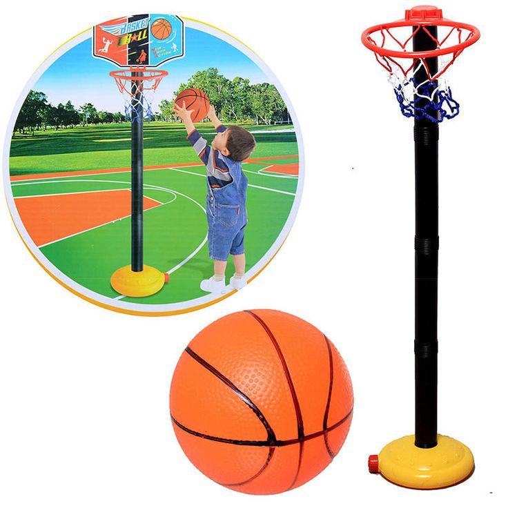 Set Adjustable Basketball hoop stands Indoor Outdoor inflator Mini Children Kid Play Sport Toy Game