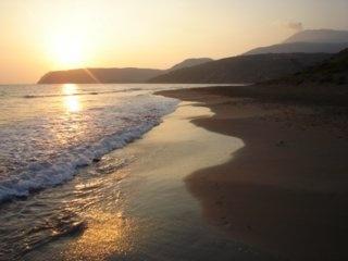 Sunset over Skala beach, Kefalonia