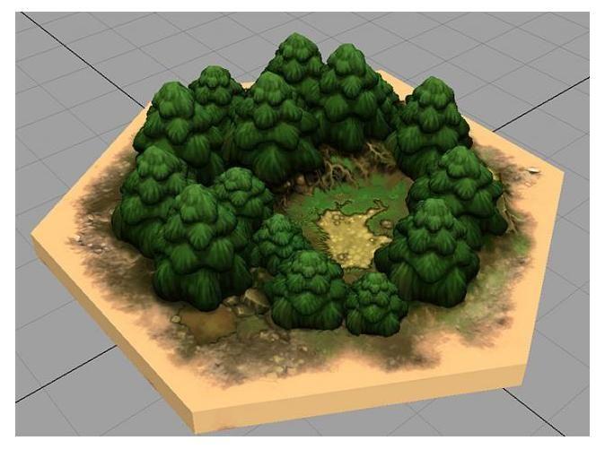 3D Printed Settlers of Catan Hexagon Wood