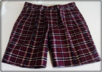 Vintage 50s Mens Indian Handwoven Madras England Mens Plaid Shorts W36 RAB