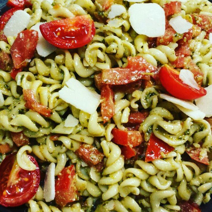 #Pesto #parmezan #pasta #salad  Follow me on instagram https://instagram.com/cbountos/
