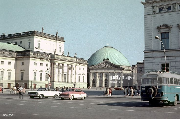 Germany - Berlin - Ost-Berlin East Berlin: August-Bebel-Platz; left: State Opera…