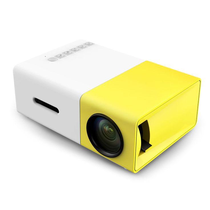[Genuine] YG300 YG 300 LED Portable Projector 500LM 3.5mm Audio 320x240 Pixels YG-300 HDMI USB Mini Projector Home Media Player