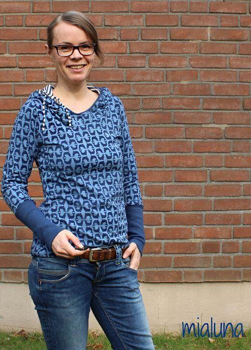Lady Rose, casual shirt by Mialuna, #patterns #farbenmix #robrob