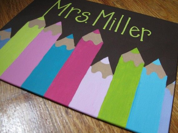 Name sign for classroom...Should be an easy DIY