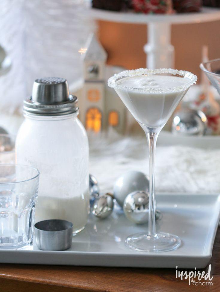 White Christmas Martini holiday martini cocktail recipe #christmas