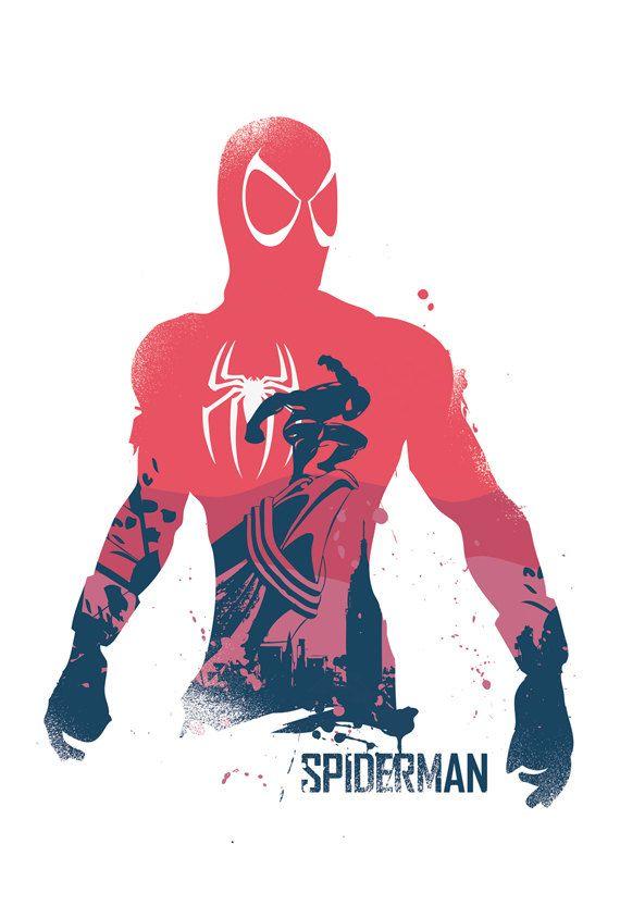 Superheroes poster set 2 Diferentes medidas por 2ToastDesign
