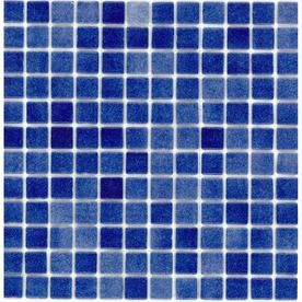 Elida Ceramica�Recycled Non Skid Deep Blue Glass Mosaic Square Indoor/Outdoor Wall Tile (Common: 12-in x 12-in; Actual: 12.5-in x 12.5-in)