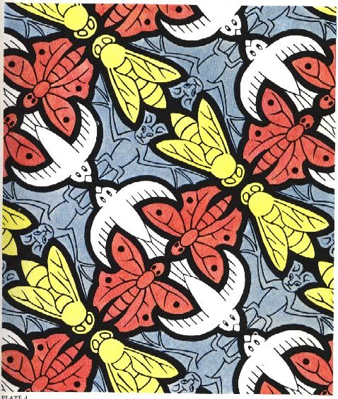 teaching Transformations and Tessellations - http://library.thinkquest.org/16661/escher/tessellations.4.html
