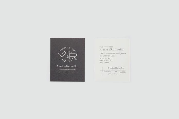 Mario & Raffaella _ branding / logo mark /  shop card / price tag / sign