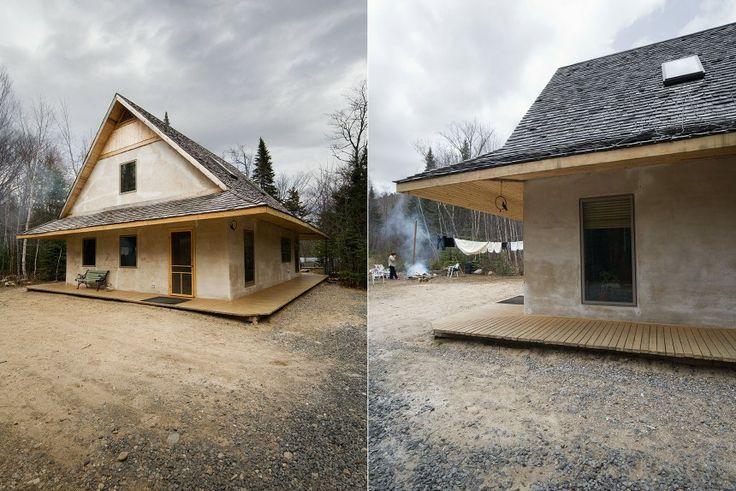maisons   houses  Résidence secondaire des Laurentides construite en chanvre et bardeaux de cèdre. – L. McComber ltée – architecture vivante