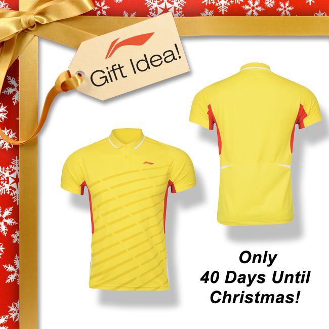 BADMINTON LOVERS GIFT IDEAS! Get your family and friends a Christmas gift they will truly LOVE this year like this premium quality, high tech badminton polo made from a blend of polyester and spandex [AAYJ271-2]! Find it at your local USA and CANADA dealer or here at www.shopbadmintononline.com/clothing-for-badminton-c-5.html #MakeTheChange!