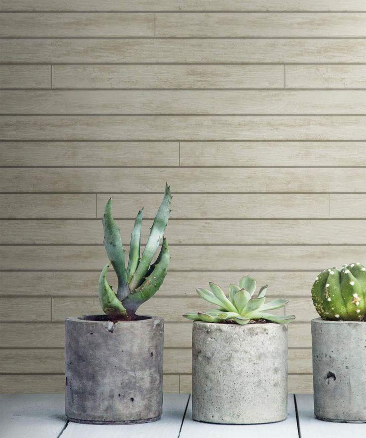 Magnolia Home Skinnylap Wallpaper – Gray/Brown