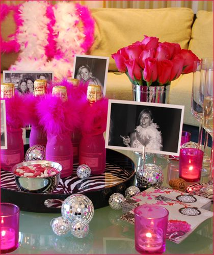 Pink and black bachelorette party