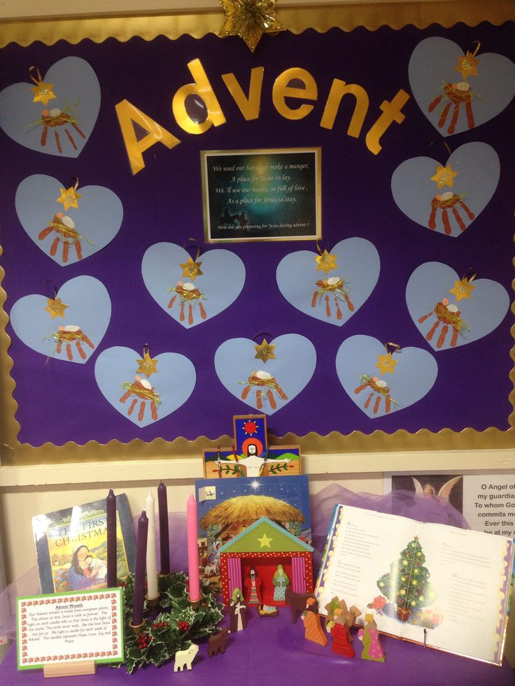 Advent prayer table