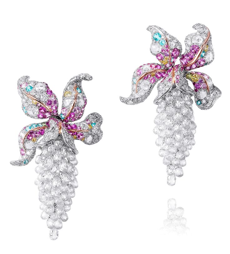 Anna Hu Orchid earrings #Flower#