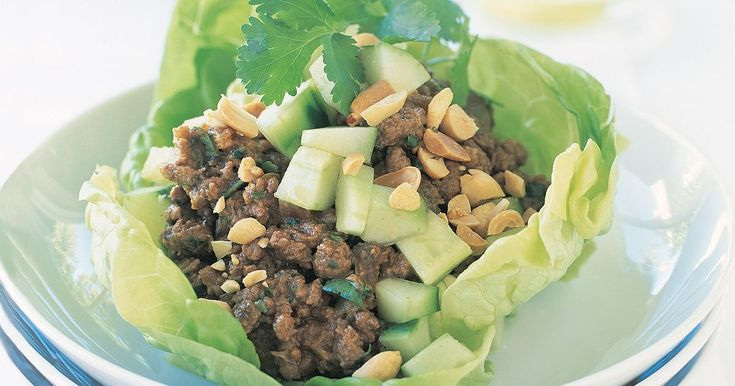 Why eat out when you can have fun with all the family with these fabulous satay beef lettuce parcels.