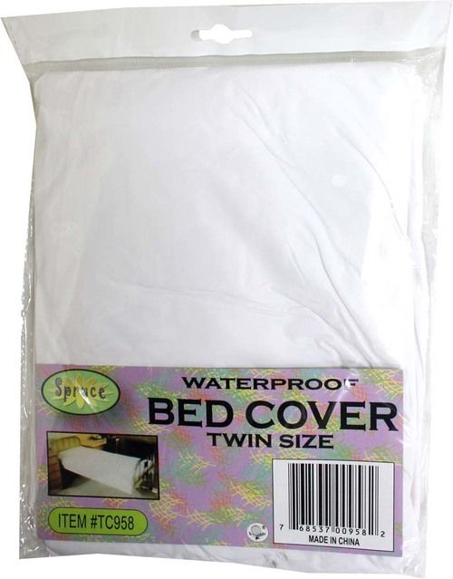 Plastic Bed Cover - Twin Size (75 X 36 X 8) : ( Pack of 1 Pc )