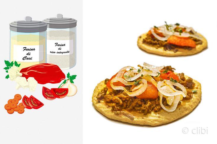 PIZZA TURCA Lahmacun o pane pita di cavolfiore senza glutine farcito con carne pomodori e cipolle gradevolmente speziato. http://clibi.net/2015/09/12/pizza-turca-senza-glutine/