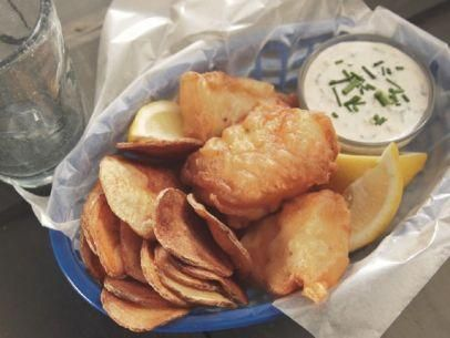 "Easy Fish and Chips (Aunt Jean is Back in Town) - Nancy Fuller, ""Farmhouse Rules"" on the Food Network."