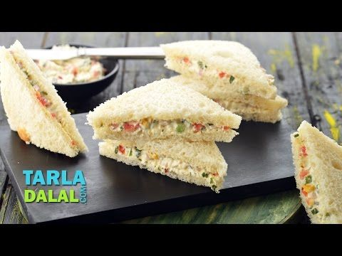 Cream Cheese Sandwich by Tarla Dalal | Recipe Video | Indian and International Cooking Videos | Tarladalal.com