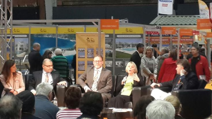 Our very own Jayne Schofield on the Hub Panel  at the Manchester Place In The Sun Property Show answering questions asked by the audience.