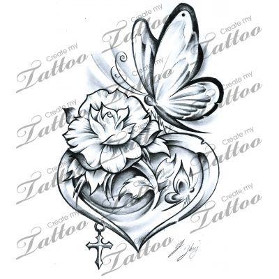 Marketplace Tattoo The Butterfly Heart #15499 | CreateMyTattoo.com