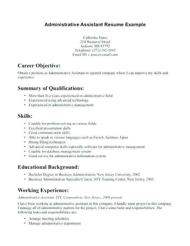 73 New Gallery Of Sample Resume For Administrative Assistant Ii Check More At Ht Administrative Assistant Resume Dental Hygiene Resume Medical Assistant Resume
