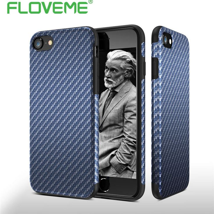 FLOVEME Vintage Soft TPU Case For iPhone 6 6S Plus 5 5S SE Silicone Carbon Fiber Twill Cover For iPhone 7 7 Plus Phone Case