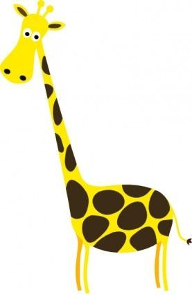 Cartoon Giraffe clip art | Baby shower ideas | Pinterest