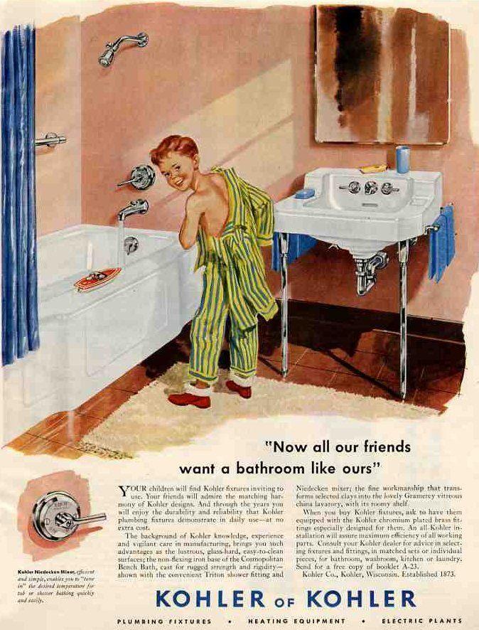 vintage tub ads | vintage 1949 bathroom — simple pleasures for people who'd been ...