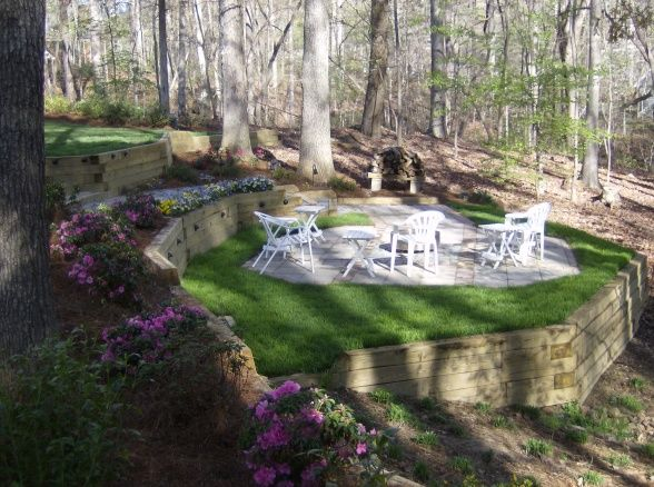 FIRE PIT, Sloping yard a few timbers a little dirt a custom stainless fire pit wine friends BLISS.