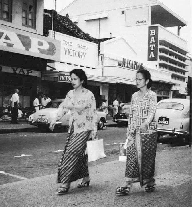 pasar baru, jakarta, 1950an