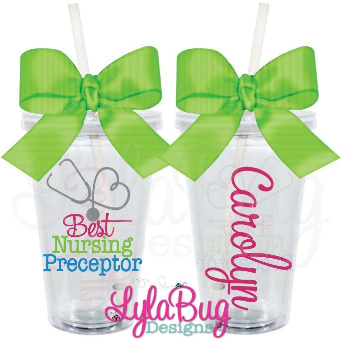 Best Nursing Preceptor Personalized Acrylic Tumbler LylaBug Designs Nursing Preceptor Gift, Nursing School, Nurse Preceptor Gift