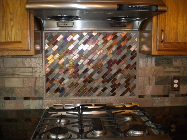 Photo Of Glass Tile In Kitchen