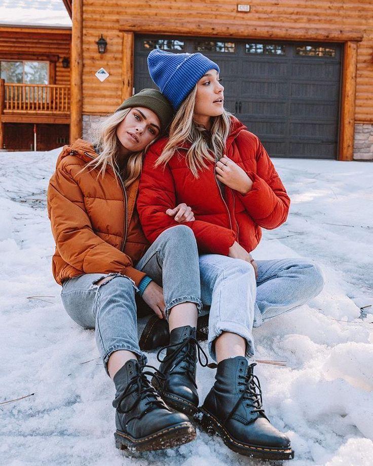 Зимние фотосессии на улице с подругами все