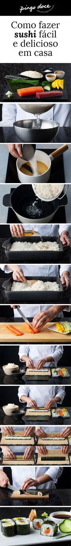 É daquelas pessoas que nem se atreve a tentar fazer o seu próprio sushi porque pensa que é demasiado difícil? Chegou o dia de arriscar. Fazer sushi é mais fácil do que pensa. Veja como.