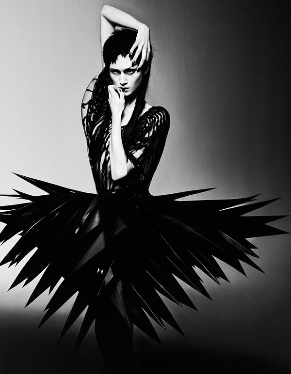 Sculptural Fashion - avant garde spike skirt; dark futuristic fashion // Ph. Elizaveta Porodina for Schon