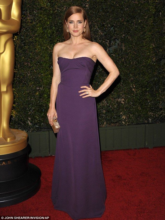 Amy Adams in Vivienne Westwood, dailymail.co.uk...great color!