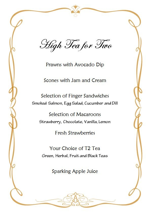 Best  High Tea Menu Ideas On   Tea Party Menu High