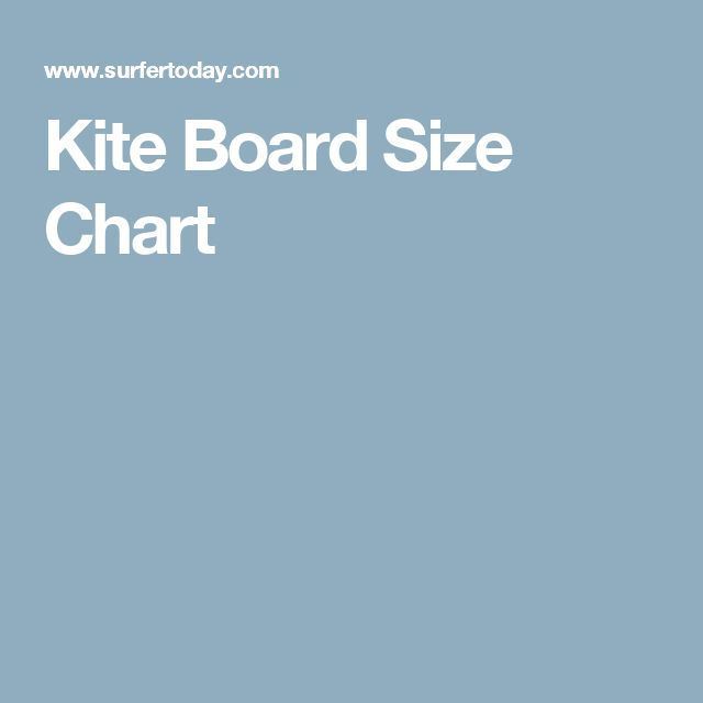 Kite Board Size Chart