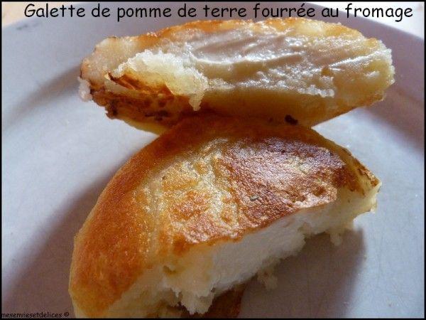 Galettes de pomme de terre fourrées au Kiri, une pure merveille ! #kiri #recette #enfant #pommedeterre #fromage #plat