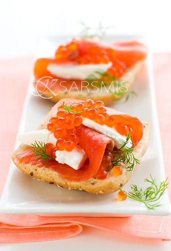 Petit toast au saumon