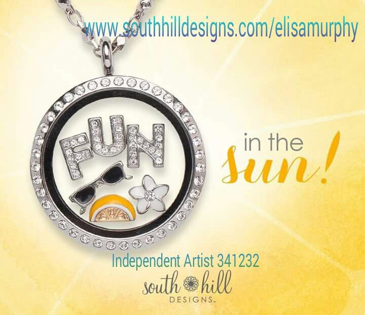 Fun in the sun with South Hill Designs. #lockets #jewellery #trendy #charms